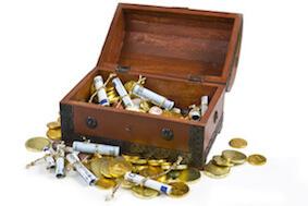 Schatztruhe für Geldgeschenke zur Hochzeit