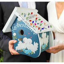 Vogelhaus für Geldgeschenke zur Hochzeit