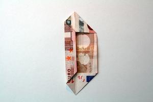 Geldblume falten Anleitung Schritt 4