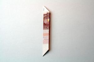 Geldblume falten Anleitung Schritt 6