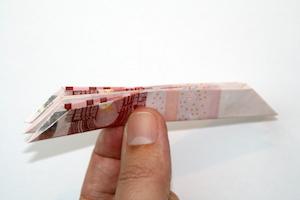 Geldblume falten Anleitung Schritt 7