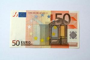Anleitung Herz falten aus 50 Euro Geldschein Schritt 1