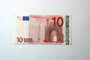 Anleitung Hemd aus 10-Euro-Schein falten Schritt 1
