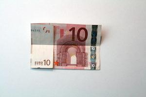 Anleitung Hemd aus 10-Euro-Schein falten Schritt 3