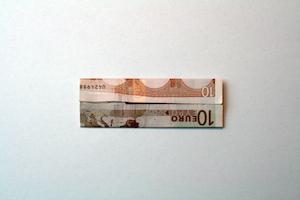 Anleitung Hemd aus 10-Euro-Schein falten Schritt 5